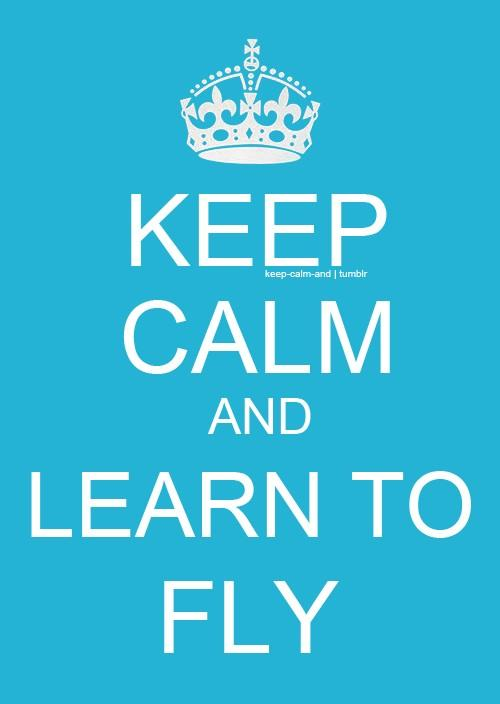 Keep calm and learn to fly.