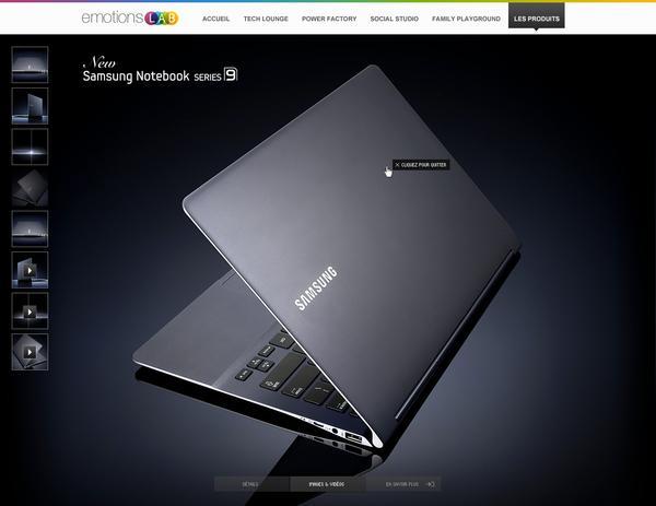 Lab émotions par Samsung sur le réseau