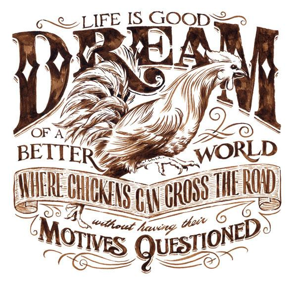 Life is Good (Illustrations for Mens S/S Tees) on
