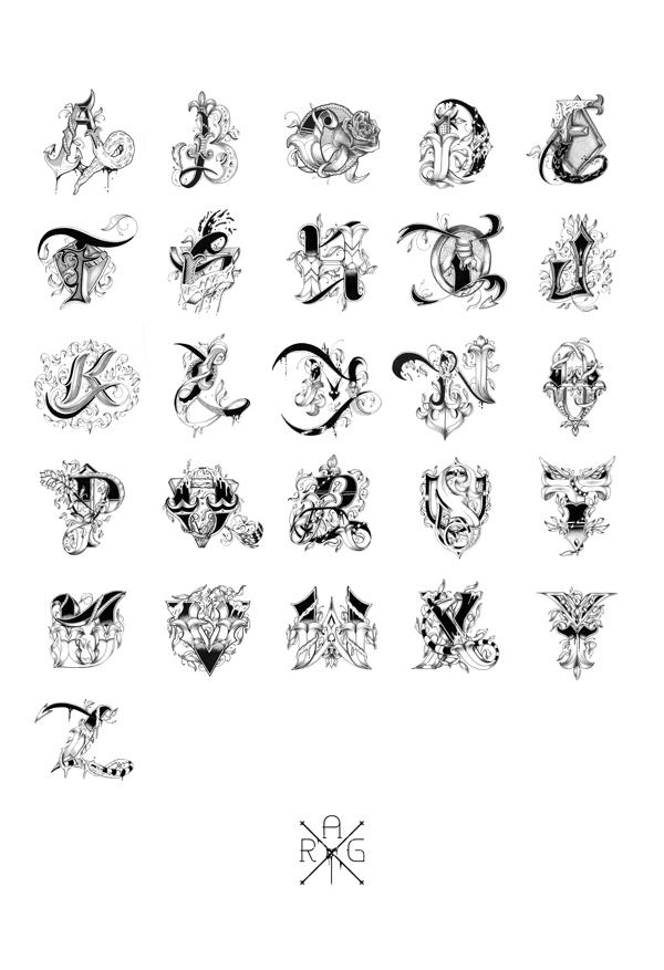 Cool Letters Alphabet To Draw Love letters - hand drawn