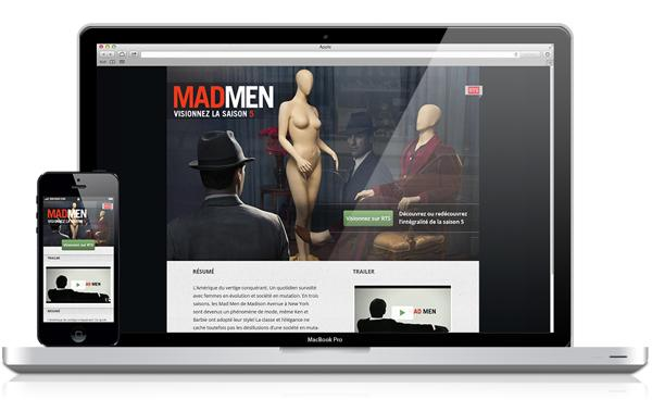 MADMEN / Landing Page on