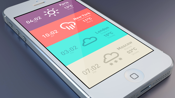 Meteo & Clock iPhone App on