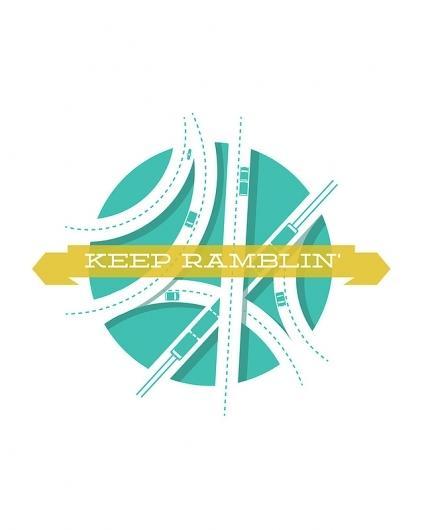 Mine / Keep Ramblin Art Print by Jon Ashcroft | Society6 — Designspiration