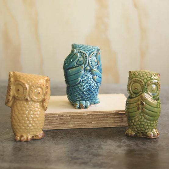 My Nest w/ My Sweet / Hear No, See No, Speak No Evil Owls.
