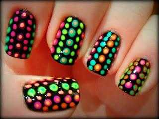Nails? / neon colors!