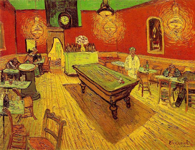 Night Café by Vincent Van Gogh.