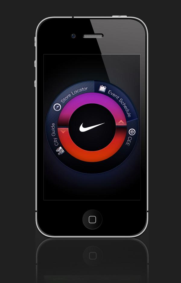 NIKE iphone UI Design