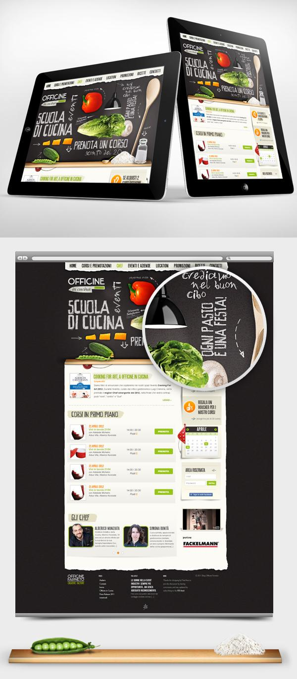 Officine in Cucina - Web interface Design on