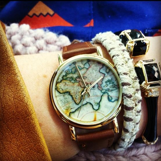 Oh So Stylish. / Map watch. Nerdy AND awesome.