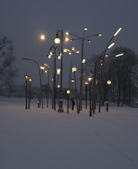 P for... Photography / street lamp forest by sonja vordermaier