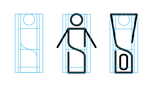 Pictograms for hardware warehouse wayfinding system