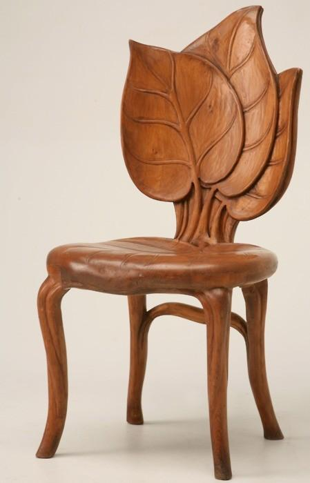 Seats Taken / Art Nouveau chair, c. 1900, from the mountain regions of France. Incredible.