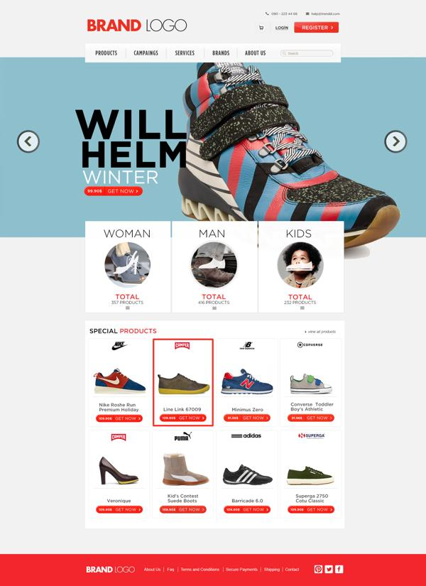 Shopping Template (free psd) on