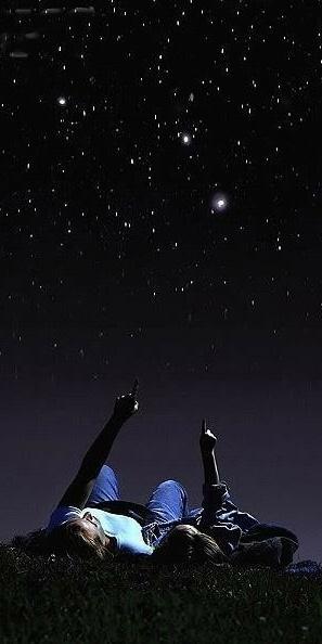 Star gazing at night | Romance