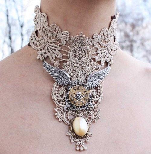 Steampunk Inspiration / Ivory collar by ~Pinkabsinthe