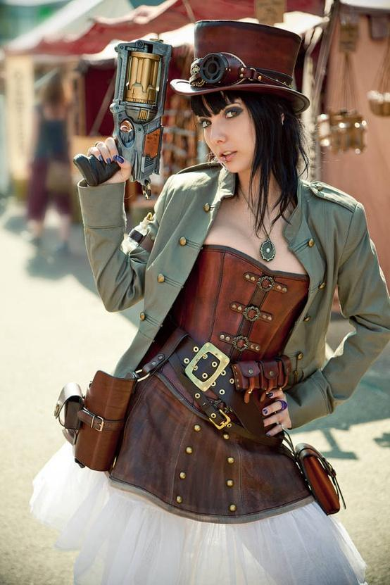Steampunk Inspiration / like the leather with the green