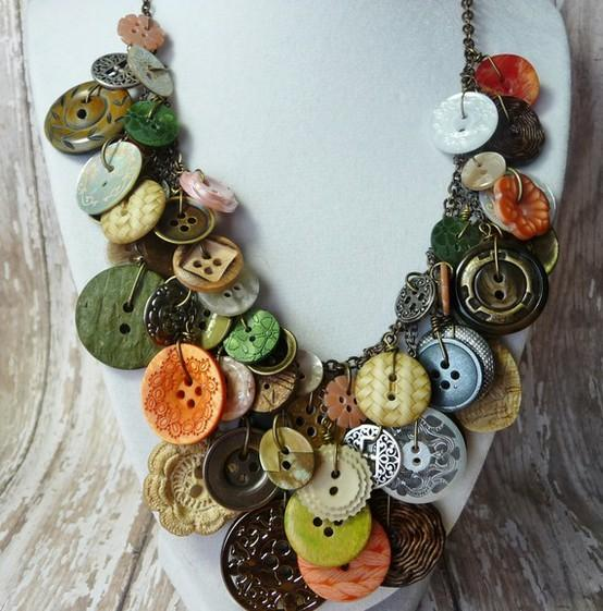 Sweet Sweet Accessories / Button necklace