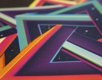 Tetrahedron Screenprint on