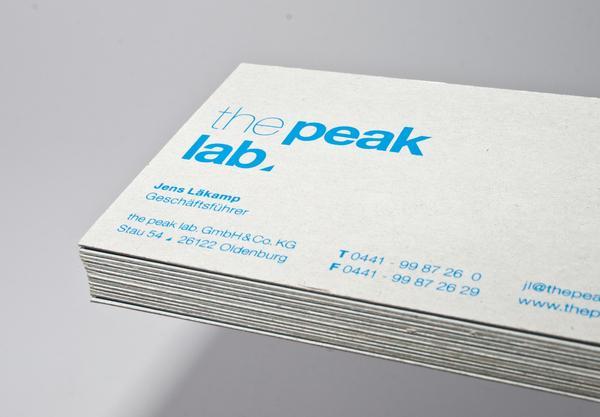 the peak lab. Corporate Identity on