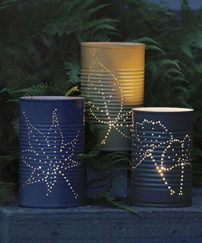 Things I'd Like to Try to Work On / Tin Can Luminaries | Apartment Therapy Re-Nest