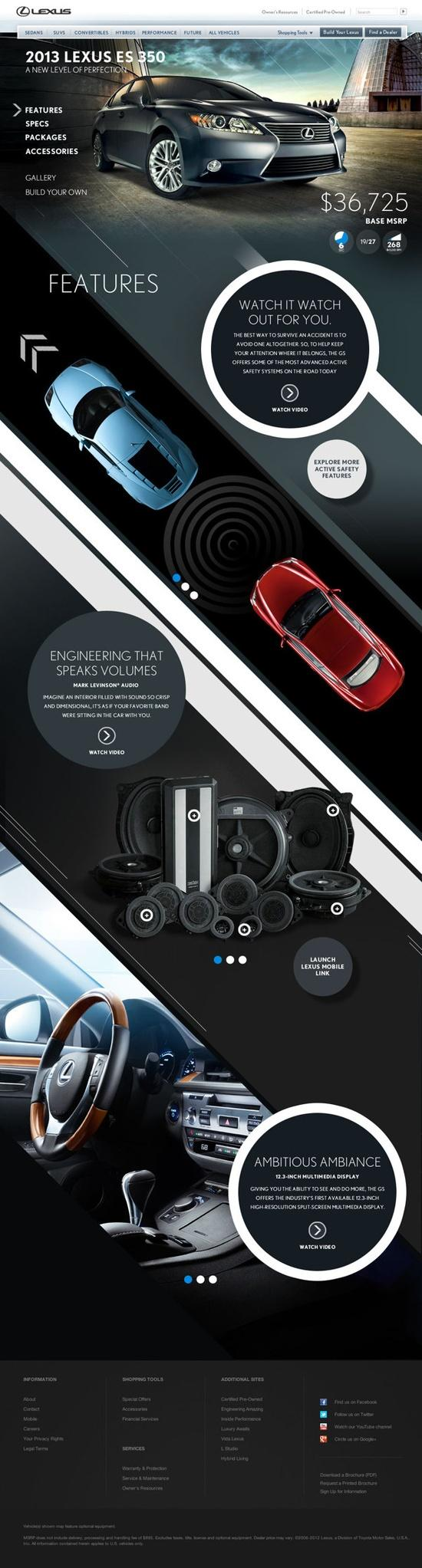 Web Design / Lexus HTML5 Parallax by bil Chamberlin
