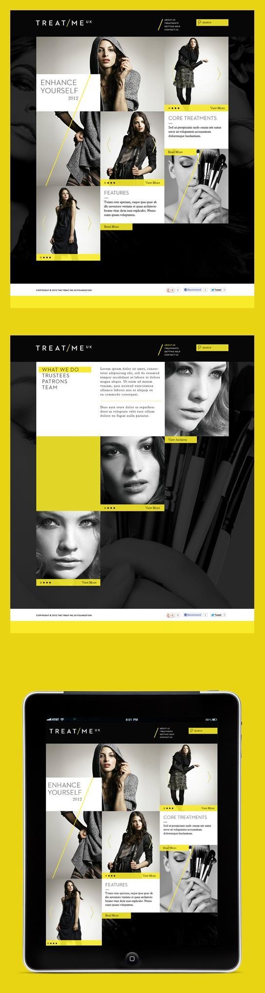 webdesign / Grid meets YELLOW.