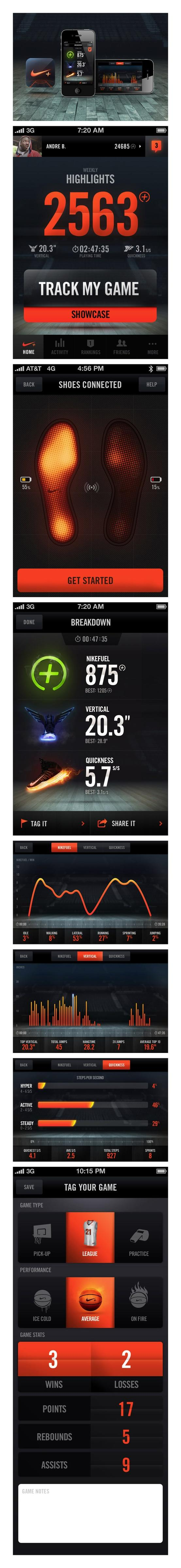 Web/Interactive/UI / Nike+ Basketball by Jordan Fripp