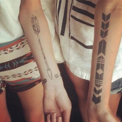 What I Love / tattoo, arrows — Designspiration
