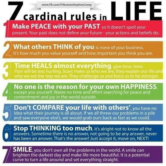 Words to Live By / Cardinal rules