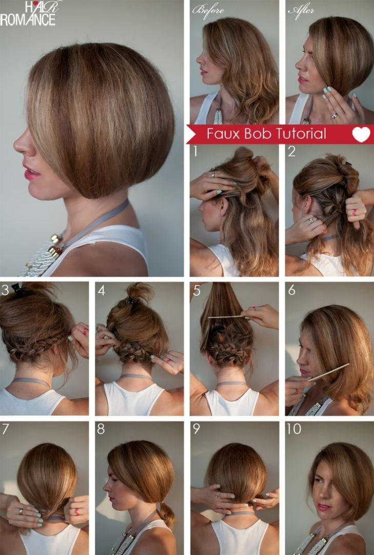 Haircut do it yourself hair diy faux bob hairstyle do it yourself fashion tips solutioingenieria Images