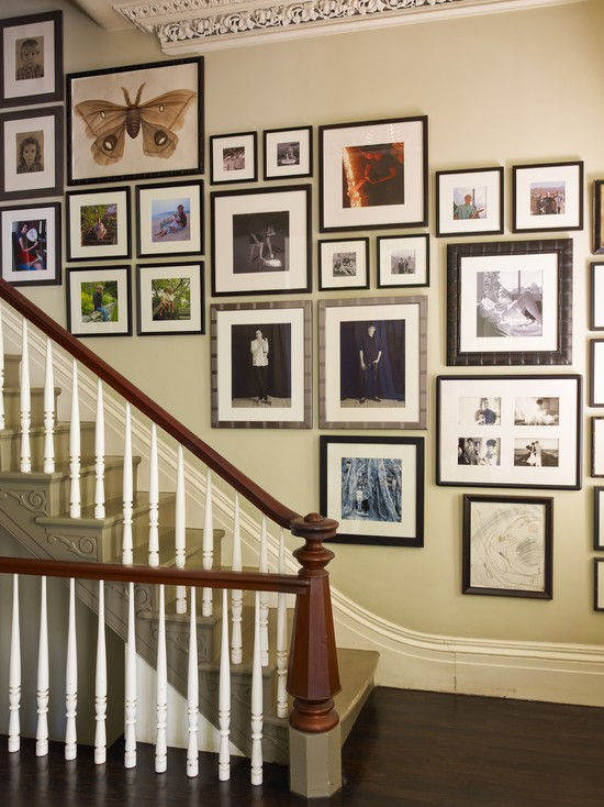 Decorating Traditional Staircase Picture Idea For Hall Or Family Room Gallery Wall To Hold All